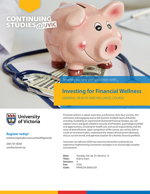 Flyer for Investing for Financial Wellness Course